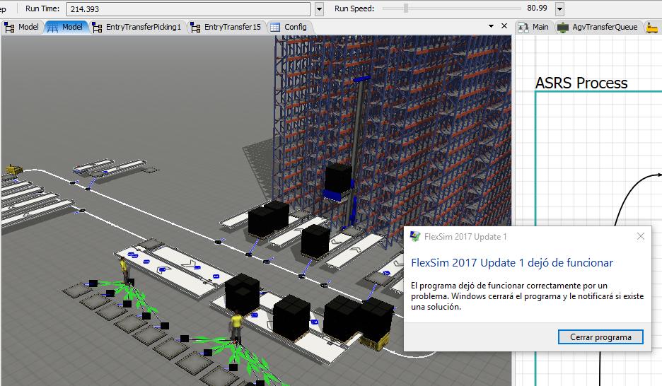 Model crashing FlexSim, unrepeatable errors... - FlexSim Community